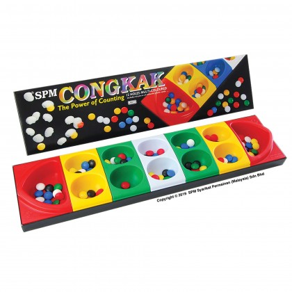 Congkak Junior - 12 Holes Multi Colour (SPM105)