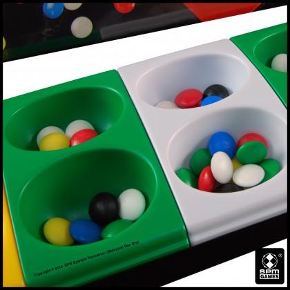 Congkak Junior - 12 Holes Multi Colour (SPM105)