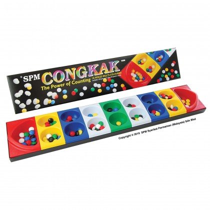 Congkak - 16 Holes Multi Colour (SPM107)